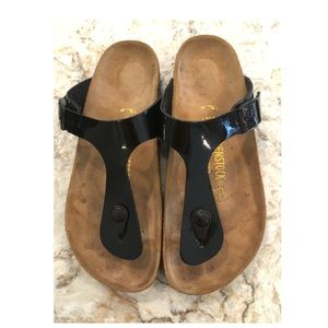 Birkenstock Gizeh black Patent Leather size 37